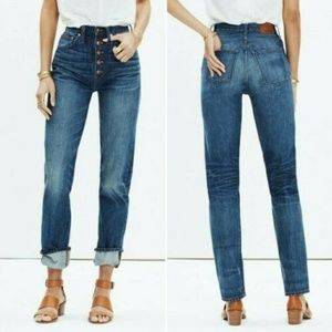 Rivet and Thread Jeans 27 High Rise Button Front